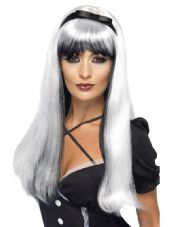 Halloween Bewitching Wig In Silver